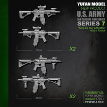 Load image into Gallery viewer, Yufan Model  Original 1/35m4 Rifle-7 Model Resin Soldier Accessories Length2-3CM Yfww-1869