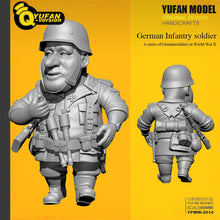 Load image into Gallery viewer, Yufan Model Resin Figure 1/32 (60mm High) Q Version Resin Soldier Model self-assembled Yfww-2014