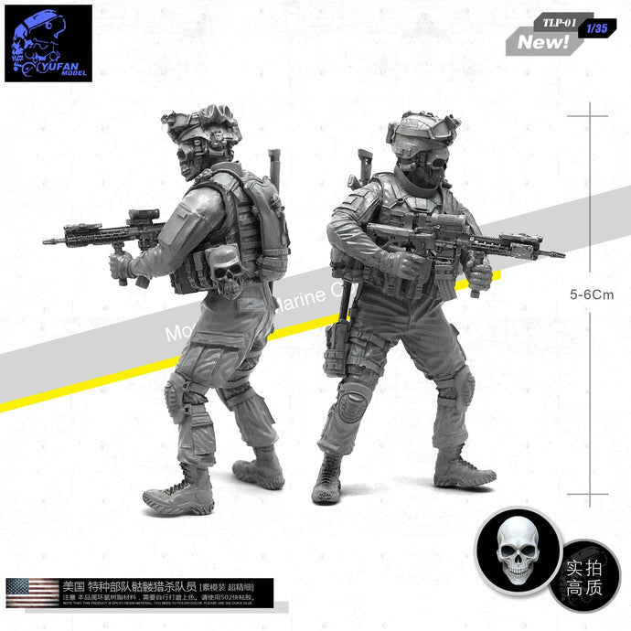 Yufan Model 1/35 Figure U.s. Special Forces Skeleton Hunter Resin Soldier Tlp-01