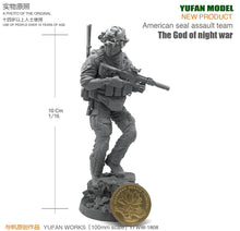 Load image into Gallery viewer, Yufan Model Originally 90mm Figure Created  Platform The God Of Night Warfare For Us Special Commando Resin Soldiers YFWW-1808