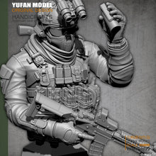 Load image into Gallery viewer, YuFAN Model /18 Resin Kits  American commando, resin soldier, bust  YFWW-2022