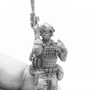 1:35 Modern US Marines Soldier with SCAR-L Resin Scale Figure A18-07 - Yufan Models Store