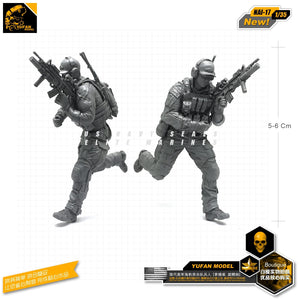 Yufan Model 1/35 Figure Model Kits Resin Soldier Model For Modern American Seals  Nai-17