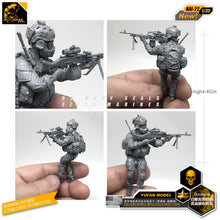 Load image into Gallery viewer, Yufan Model 1/35 Figure Model Kit Modern American Commando Biochemical Machine Gunner Resin Soldier Model Nai-22