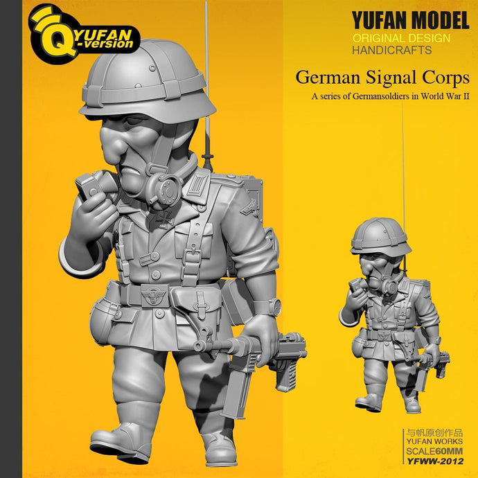 Yufan Model  1/32 Resin Figure  Q Version Resin Soldier (60mm High) Yfww-2012