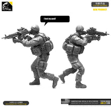 Load image into Gallery viewer, 1/35 Resin Kits US Navy SEAL machine gunner assault resin soldier Sefl-assembled LOO-27