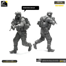 Load image into Gallery viewer, Yufan Model 1/35 Figure Model Kit   Resin Soldier Of Us Seal Commando Unmounted Loo-24
