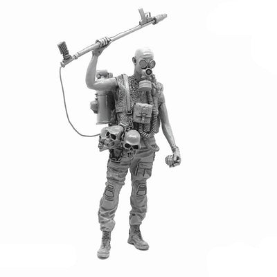 1:35 Zombie Apocalypse Hunter Resin Scale Figure A18-03