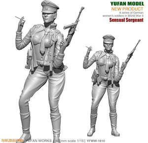 Yufan Model 1/18  Resin Kits Figure  Sexy Women Officers Resin Soldiers  Model  Self-assembled 90mm YFWW-1810