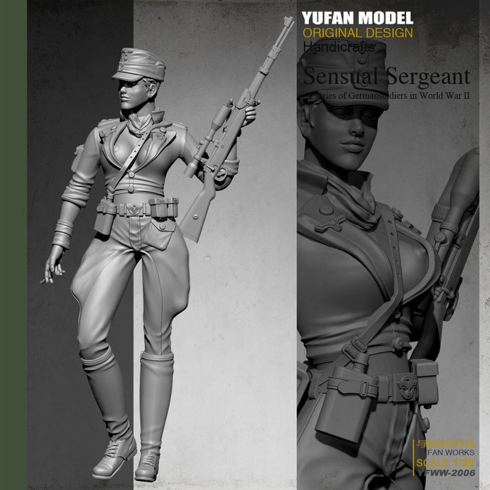 Yufan Model  1/35  Female Sniper Resin Soldier  Colorless And Self-assembled Yfww-2006