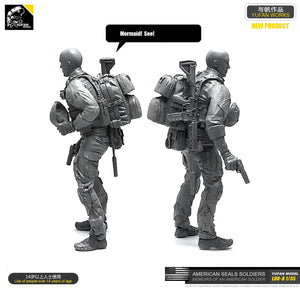 Yufan  Model 1/35 Figure Resin Soldier Model Kit Unmounted Loo-08