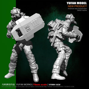 Yufan Model 1/24 Soldier Model Kit 75mm Resin Soldier Unmounted Yfww-1838