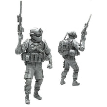 Load image into Gallery viewer, 1:35 Heavy Armored Elite US Marines Soldier SCAR-H Scale Resin Figure AH-03 - Yufan Models Store