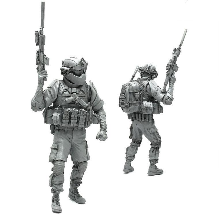1:35 Heavy Armored Elite US Marines Soldier SCAR-H Scale Resin Figure AH-03 - Yufan Models Store