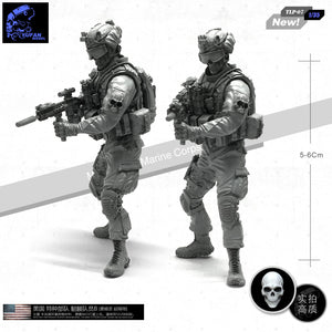 Yufan Model 1/35 Resin Soldier  For Skeleton Members Of Us Special Forces Unmounted Model Kits  Tlp-07