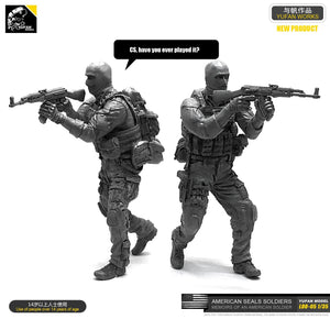 1:35 US Special Forces Soldier with Trophy AK47 Resin Scale Figure LOO-05 - Yufan Models Store