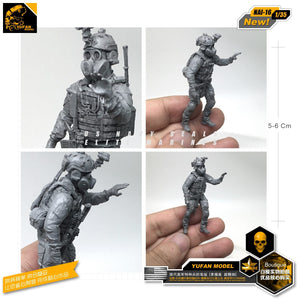 Yufan Model 1/35 Figure Resin Soldier Model Kits For Gas Mask Of Modern Us Special Forces   Self-assembled Nai-16