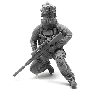 1:35 US Elite Special Forces Team Soldier with Gas Mask Resin Scale Figure HONG-14 - Yufan Models Store