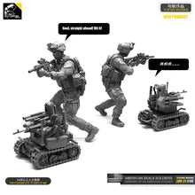 Load image into Gallery viewer, Yufan Model 1/35 Figure Model Kit American Seal Commando And Operational Robot Resin Soldier Unmounted Loo-21