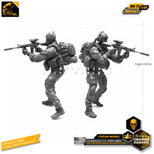 Load image into Gallery viewer, Yufan Model 1/35 Figure Model Kit For US Seal Assault Team Resin Soldier Model Nai-23
