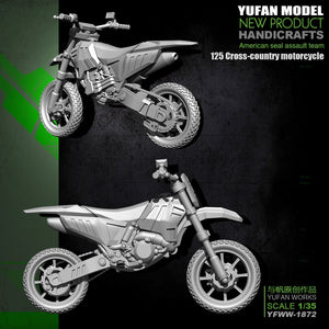 Yufan Model  Original 1/35 Resin Soldier Of  125 Off-road Motorcycle Model Kit Yfww-1872