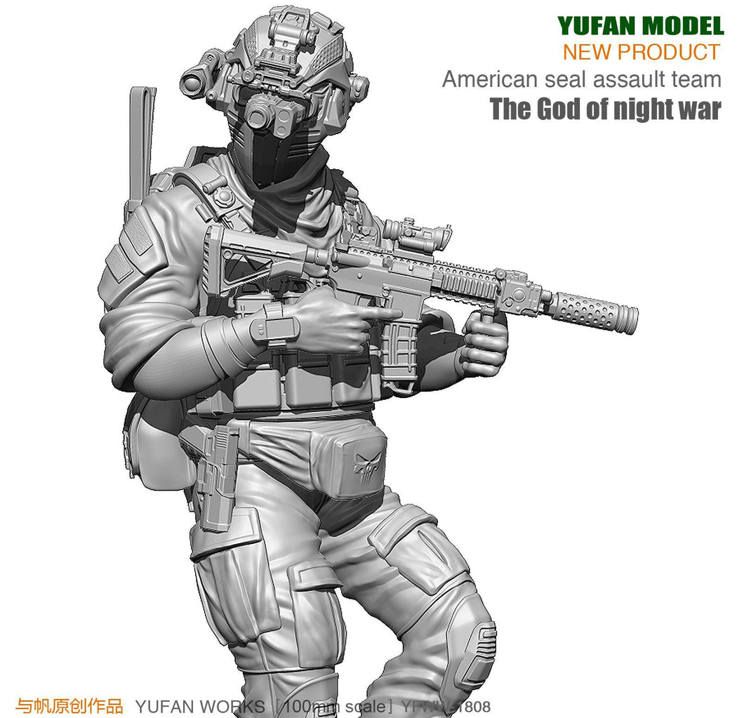 Yufan Model Originally 90mm Figure Created  Platform The God Of Night Warfare For Us Special Commando Resin Soldiers YFWW-1808