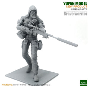 Yufan Model Original 75mm Figure U.s. Army Ghost Sniper Resin Soldier YFWW-1846