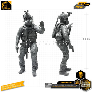 1:35 Modern US Marines Soldier in Biochemical Mask Resin Scale Figure NAI-16 - Yufan Models Store