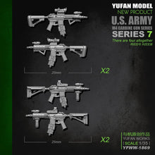 Load image into Gallery viewer, 1:35 M4 Rifle Set-7 4 psc Resin Scale Accessories YFWW-1869 - Yufan Models Store