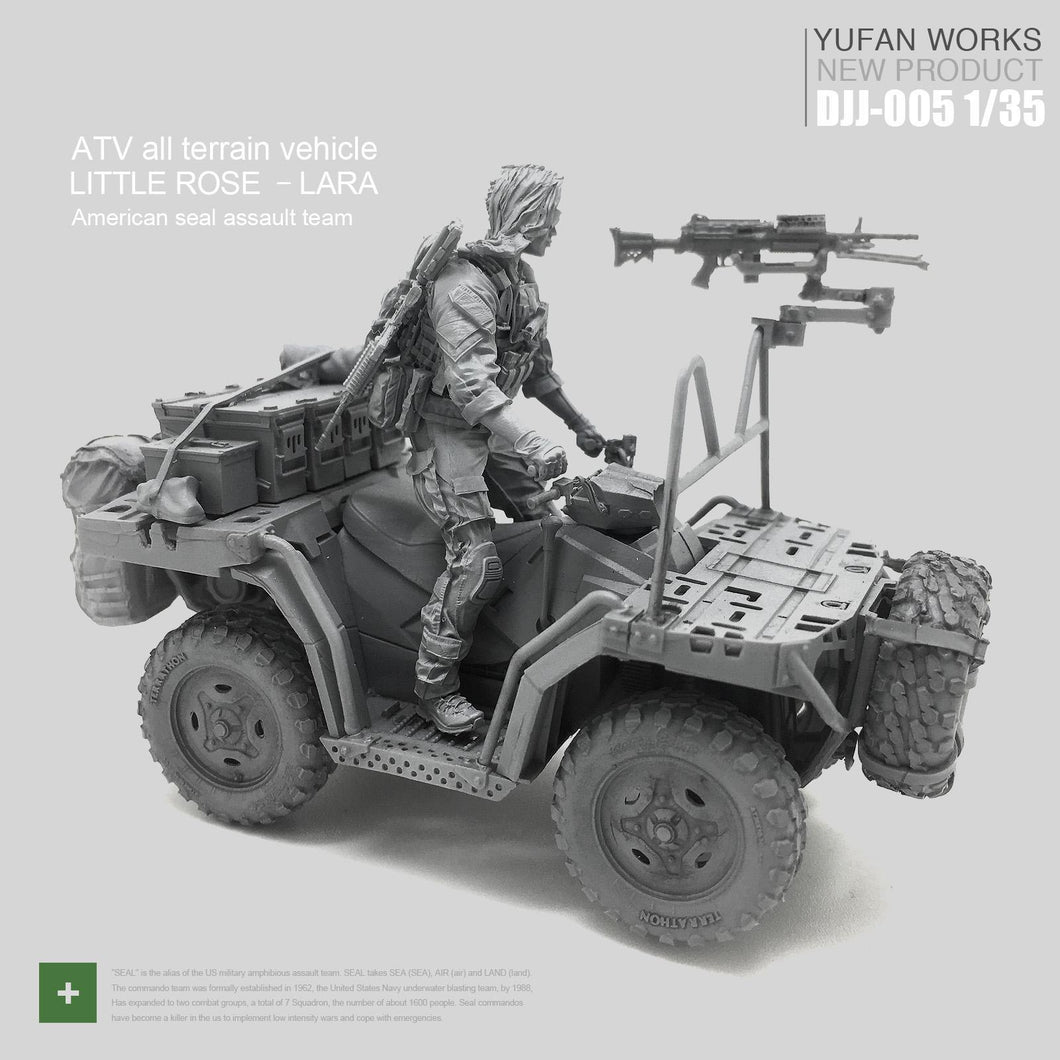 1:35 Set US Army Female Driver and ATV Resin Scale Figure DJJ-05 - Yufan Models Store