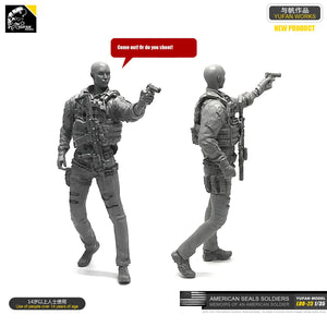 1:35 US Army Tactical Girl Shoots with a Pistol Resin Scale Figure LOO-23