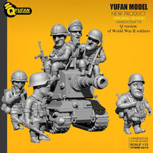 Load image into Gallery viewer, 1:32 Q Version 6 pcs German Soldiers Plus Tank Set Resin Scale Models YFWW-2015 - Yufan Models Store