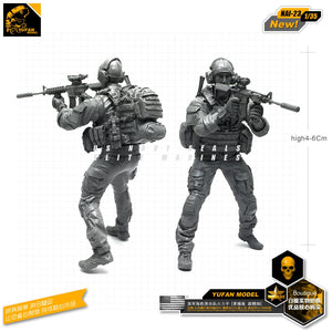Yufan Model 1/35 Figure Model Kit For US Seal Assault Team Resin Soldier Model Nai-23