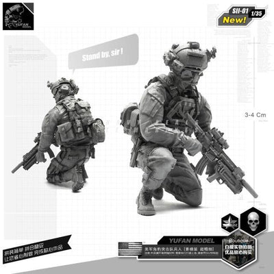 1:35 US Navy Seal Full Euipment Soldier Resin Scale Figure SII-01