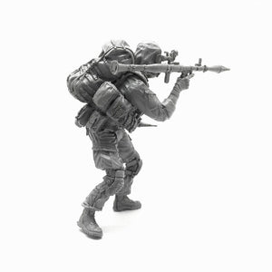 1:35 US Soldier with Grenade Launcher RPG-7 Resin Scale Figure A18-05 - Yufan Models Store