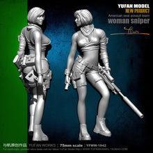 Load image into Gallery viewer, Yufan Mode 1/24 Soldier Model Sexy Female Sniper Resin Figure Kit 75mm colorless And Self-assembled Yfww-1842