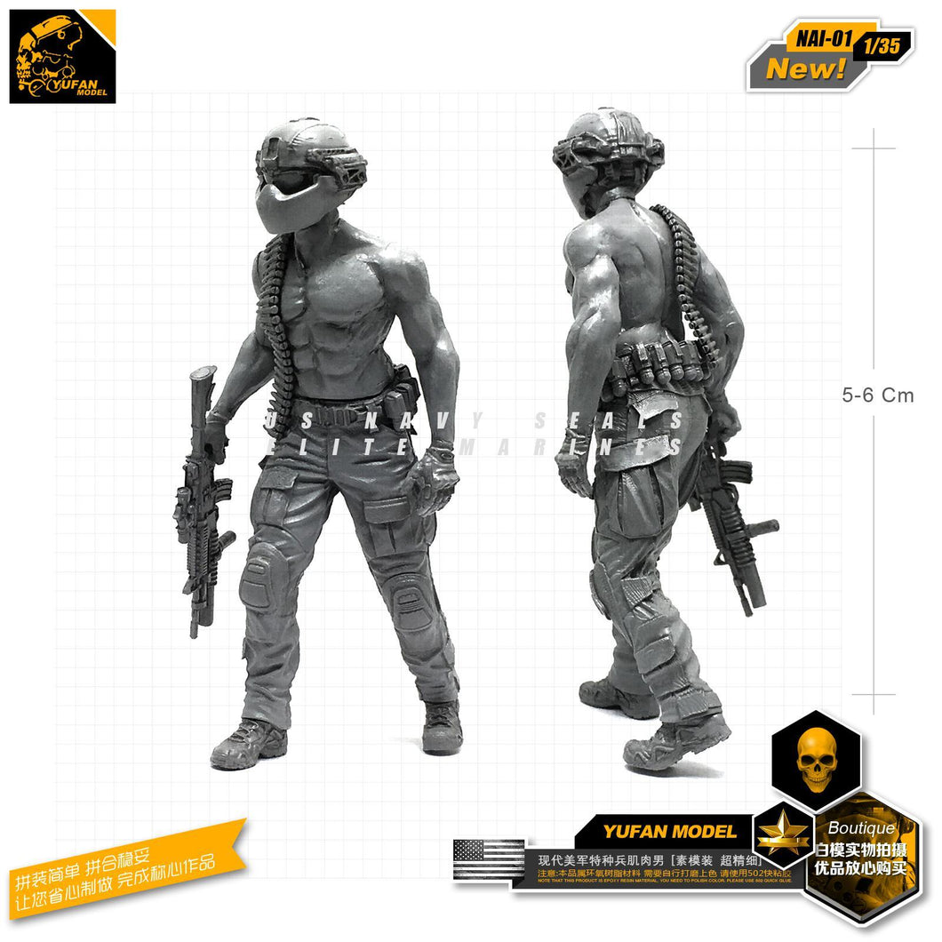 1:35 USMC Brutal Soldier with M4 Resin Scale Figure NAI-01 - Yufan Models Store