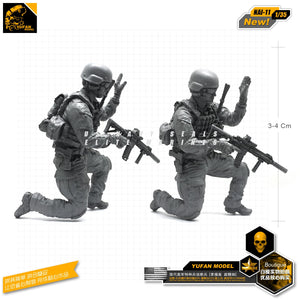 Yufan Model 1/35 Resin Figure  Model Kits American Commando Reconnaissance Force Resin Soldier Model Unmounted Nai-11