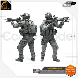 1:35 US SEAL Special Force Blue Devil Firing From A Machine gun Resin Scale Figure LJH-01 - Yufan Models Store