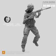 Load image into Gallery viewer, Yufan Model 1/35 Resin Figure Female Soldier Seal Commando Rose Laura Series Night Hunter Model Kit Djj-02