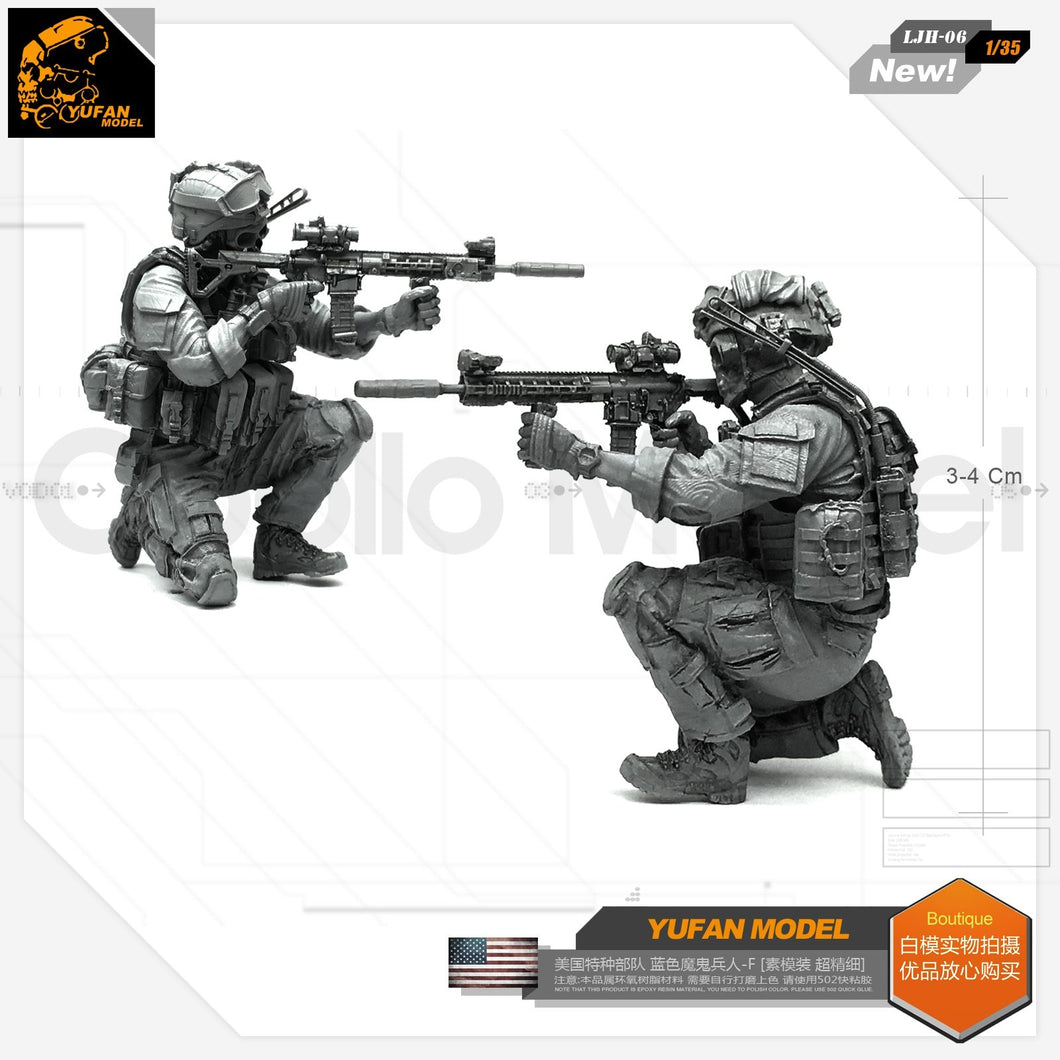 Yufan Model 1/35 Resin Figure Blue Devil Soldier-f Resin Model For Us Special Forces Model Kit  Ljh-06