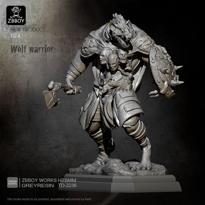 75mm Resin Model Kits Sirius Warrior Self-assembled TD-2236