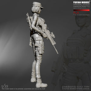new 1/35 Resin Kits Women Special Forces YuFan model self-assembled YFWW35-2040