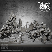 Load image into Gallery viewer, China vs Japan 1937 Battle of Shanghai Diorama 1/35 Resin figure model kits (7 Soldier + platform full set) YFWW-2068