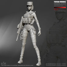 Load image into Gallery viewer, 1:35 PLA Women Special Forces Soldier Resin Scale Figure YFWW35-2040 - Yufan Models Store