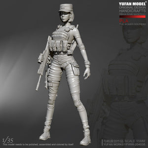 1:35 PLA Women Special Forces Soldier Resin Scale Figure YFWW35-2040 - Yufan Models Store