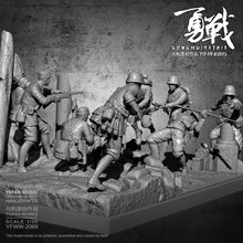 Load image into Gallery viewer, YuFan Model 1/35 Resin figure model kits self-assembled YFWW-2068 (7 Soldier + platform full set)