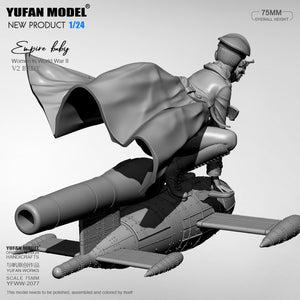1/24 Yufan model kits figure beauty self-assembled YFWW-2077