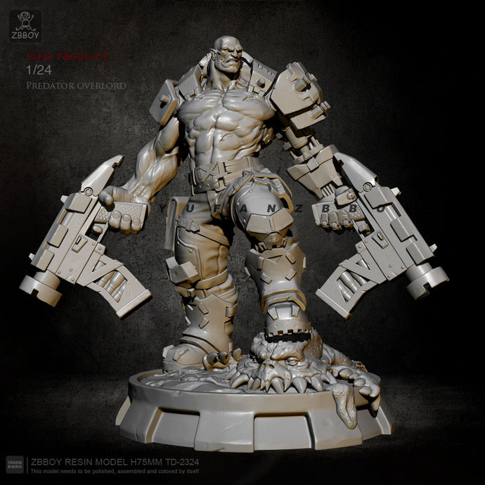 75mm Resin Figure Kits Marauder Overlord Model Self-assembled TD-2324