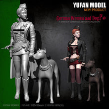 Load image into Gallery viewer, new YuFan Model 1/35  Resin Figure Kits Female officer self-assembled YFWW35-1878